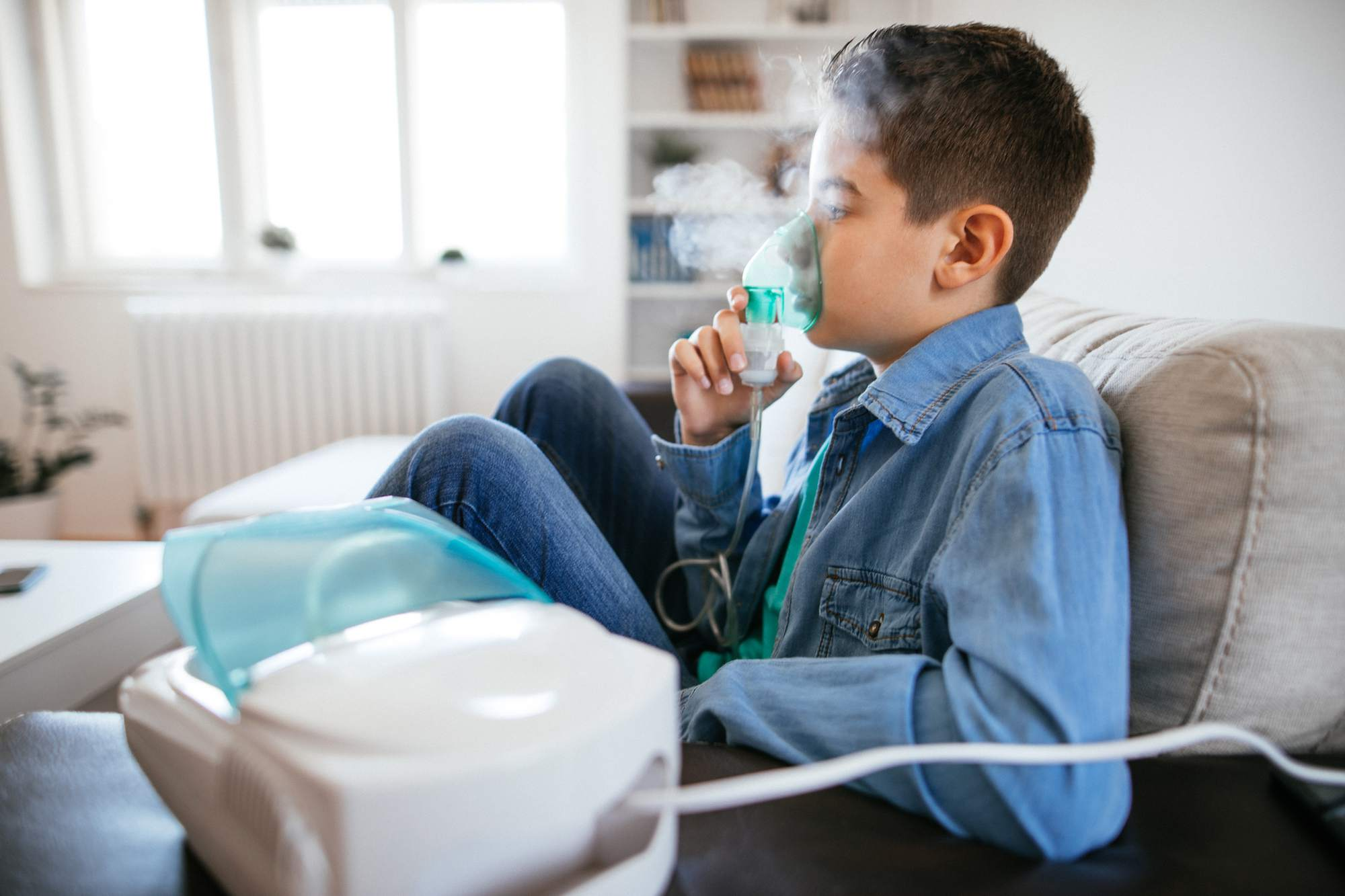 جلسات استنشاق البخار للاطفال